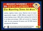 2003 Topps #366   -  Manny Ramirez All-Star Back Thumbnail