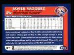 2003 Topps #385  Javier Vazquez  Back Thumbnail