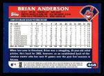 2003 Topps #468  Brian Anderson  Back Thumbnail