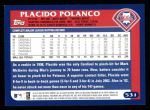 2003 Topps #531  Placido Polanco  Back Thumbnail