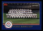 2003 Topps #658   Texas Rangers Team Front Thumbnail