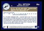 2003 Topps #665  B.J. Upton  Back Thumbnail