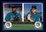 2003 Topps #677   -  Prospects - Dontrelle Willis / Jason Stokes Marlin Prospects Front Thumbnail