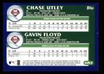 2003 Topps #682   -  Prospects - Chase Utley / Gavin Floyd Phillie Prospects Back Thumbnail