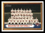2006 Topps Heritage #270   Washington Nationals Team Front Thumbnail