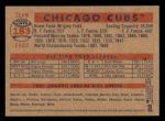 2006 Topps Heritage #183   Chicago Cubs Team Back Thumbnail