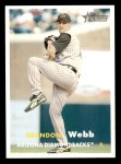 2006 Topps Heritage #31  Brandon Webb  Front Thumbnail