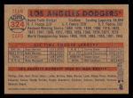 2006 Topps Heritage #324   Los Angeles Dodgers Team Back Thumbnail