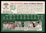 2003 Topps Heritage #16  Kevin Brown  Back Thumbnail