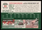 2003 Topps Heritage #63  Joe Borchard  Back Thumbnail