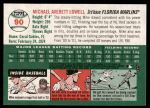 2003 Topps Heritage #90  Mike Lowell  Back Thumbnail
