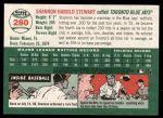 2003 Topps Heritage #280  Shannon Stewart  Back Thumbnail
