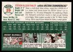 2003 Topps Heritage #29  Steve Finley  Back Thumbnail