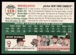2003 Topps Heritage #119  Mariano Rivera  Back Thumbnail