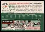 2003 Topps Heritage #139 GRN Mauer Brothers   Back Thumbnail