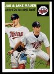 2003 Topps Heritage #139 GRN Mauer Brothers   Front Thumbnail