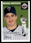 2003 Topps Heritage #318  Michael Restovich  Front Thumbnail