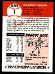 1953 Topps Archives #1  Jackie Robinson  Back Thumbnail