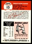 1953 Topps Archives #13  Conrado Marrero  Back Thumbnail
