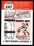 1953 Topps Archives #247  Mike Sandlock  Back Thumbnail