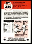 1953 Topps Archives #320  Don Newcombe  Back Thumbnail