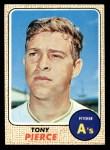 1968 Topps #38 A Tony Pierce  Front Thumbnail