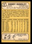 1968 Topps Milton Bradley #136 MB Randy Hundley  Back Thumbnail