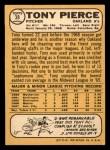 1968 Topps #38 A Tony Pierce  Back Thumbnail