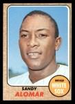 1968 Topps #541  Sandy Alomar  Front Thumbnail