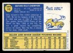 1970 Topps #149  Billy Champion  Back Thumbnail