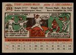 1956 Topps #293  Stu Miller  Back Thumbnail