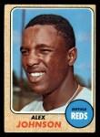 1968 Topps #441  Alex Johnson  Front Thumbnail