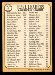 1968 Topps #4   -  Harmon Killebrew / Frank Robinson / Carl Yastrzemski AL RBI Leaders Back Thumbnail