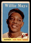 1958 Topps #5  Willie Mays  Front Thumbnail