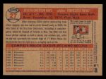 2006 Topps Heritage #27  Joe Mays  Back Thumbnail