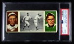 1912 T202 Hassan   -  Red Dooin / Sherry Magee Donlin Out At First  Front Thumbnail