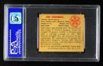 1950 Bowman #56  Del Crandall  Back Thumbnail