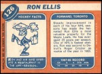 1968 Topps #126  Ron Ellis  Back Thumbnail