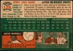 1954 Topps #128  Hank Aaron  Back Thumbnail