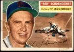 1956 Topps #165 WHT Red Schoendienst  Front Thumbnail