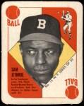 1951 Topps Blue Back #12  Sam Jethroe  Front Thumbnail
