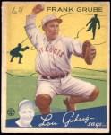 1934 Goudey #64  Frank Grube  Front Thumbnail