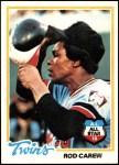 1978 Topps #580  Rod Carew  Front Thumbnail