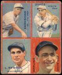 1935 Goudey 4-in-1  George Earnshaw / Jimmy Dykes / Luke Sewell / Luke Appling  Front Thumbnail