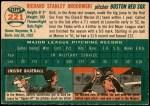 1954 Topps #221  Dick Brodowski  Back Thumbnail