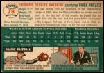 1954 Topps #78  Ted Kazanski  Back Thumbnail
