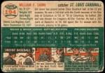 1954 Topps #194  Bill Sarni  Back Thumbnail