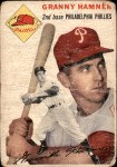 1954 Topps #24 WHT Granny Hamner  Front Thumbnail