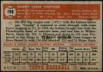 1952 Topps #193  Harry Simpson  Back Thumbnail