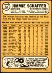 1968 Topps #463  Jim Schaffer  Back Thumbnail